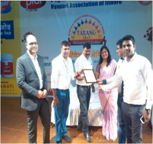 """Best Cooperation Award"" from the Raipur Plywood Traders Association and JACPL (Indore CPD Team) has received the ""Sanmaan Patra"" from the Plywood & Laminate Vyapari Association of Indore"