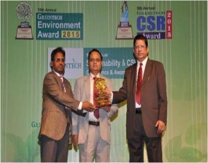 GOLD Award of GREENTECH ENVIRONMENTAL AWARD 2015 in Chemical sector for outstanding achievement in Environmental Management system