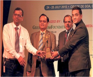GOLD Award of GREENTECH SAFETY AWARD 2015 in Chemical sector for outstanding achievement in Safety Management system