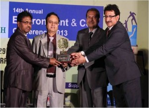 GREENTECH ENVIRONMENT AWARD in Chemical sector for outstanding achievement in Environment Management System for the year 2013