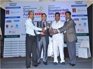GREENTECH SAFETY AWARD 2013 in Chemical sector for outstanding achievement in Safety Management system for the year 2012-13.