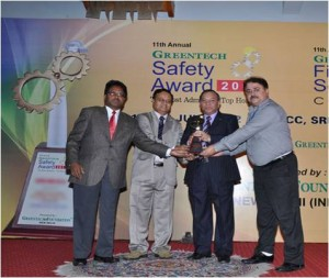 Greentech Safety Award 2012 – Silver Award – Chemical Sector for their outstanding achievement in Safety Management System