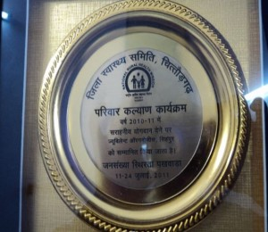 Kapasan plant recognized through Letter of appreciation from district administration Chittorgarh, for support in health programs through CSR