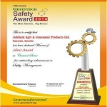 SILVER Award in Chemical Sector for outstanding achievements in Safety Management 2
