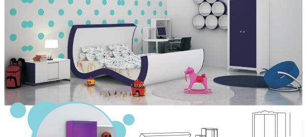 Design For Kids Double Bed Room With Master Bed