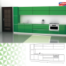 Single Line Kitchen Design with an Inbuilt Oven