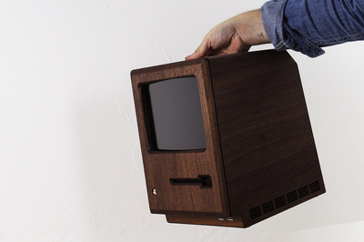 1984 Apple Macintosh ReCrafted with Wood & Gold 2