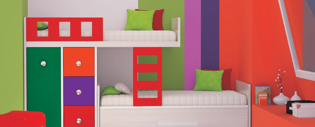 KIDS BUNKER BED WITH LADDER
