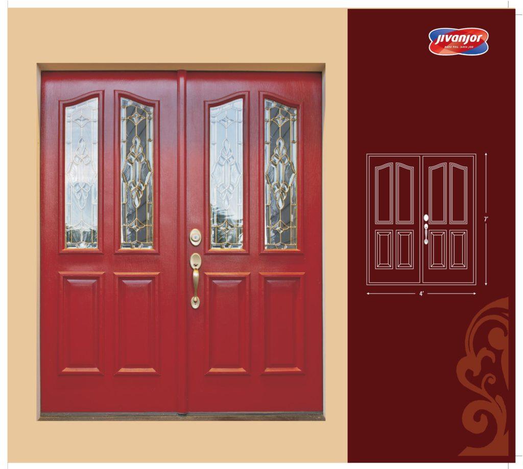 Double door design ideas with glass from jubilant jacpl for Latest door design 2016