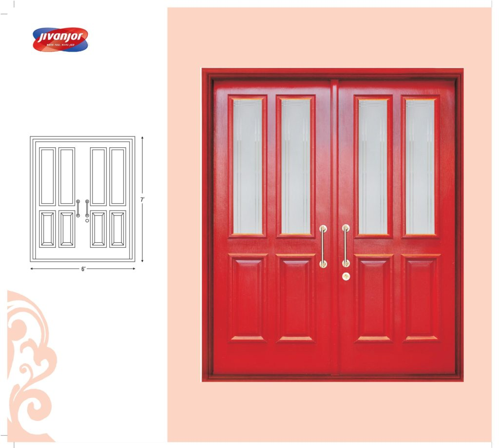 Double door design ideas with glass from jubilant jacpl for Double door ideas