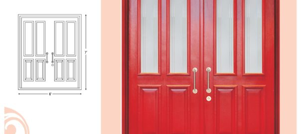 Double Door Design ideas with Glass from Jubilant