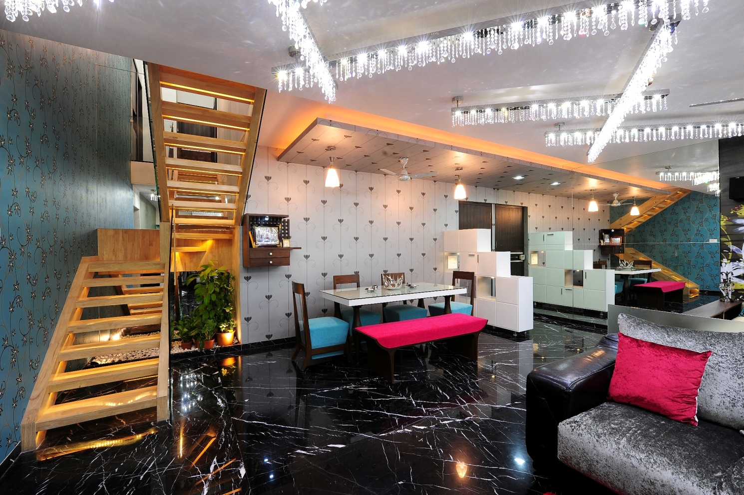 Design of a dining room by architecture design art pvt ltd for Arch design architects limited