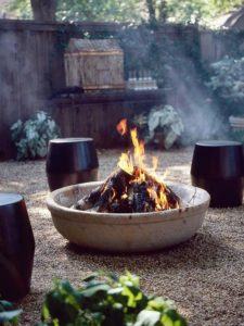 Winter Outdoor Styling-A Complete Makeover-Fire Pit