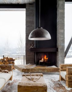 Winter Outdoor Styling-A Complete Makeover-Fire Place