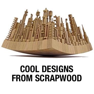 Wood designs from scrapwood