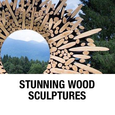 stunning wood sculptures